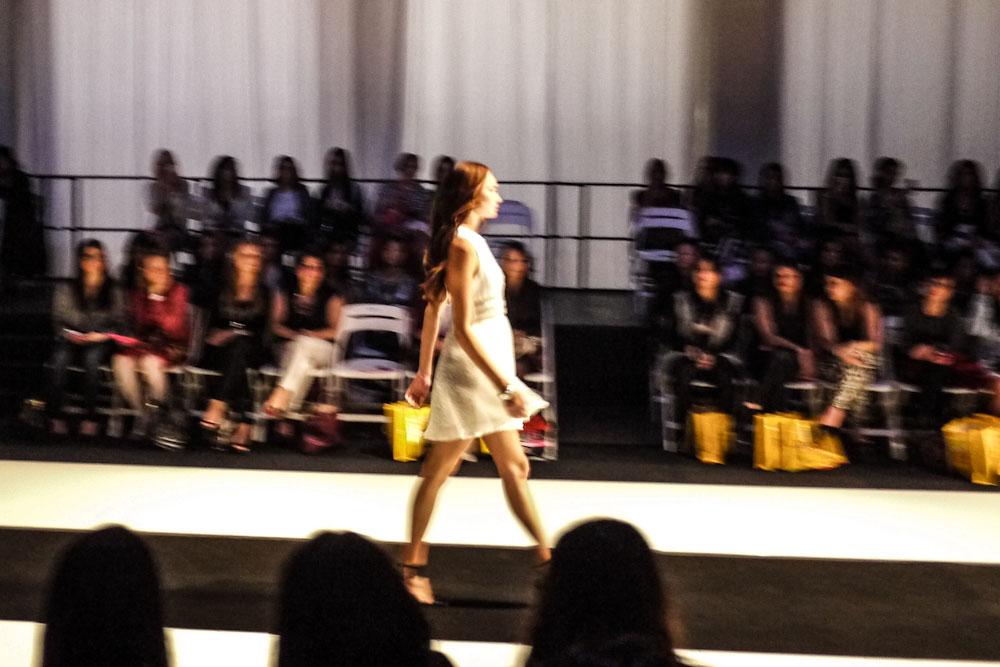 Walking the catwalk at Fashion Weekend