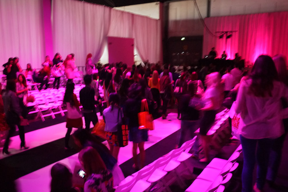 The crowd at Fashion Weekend