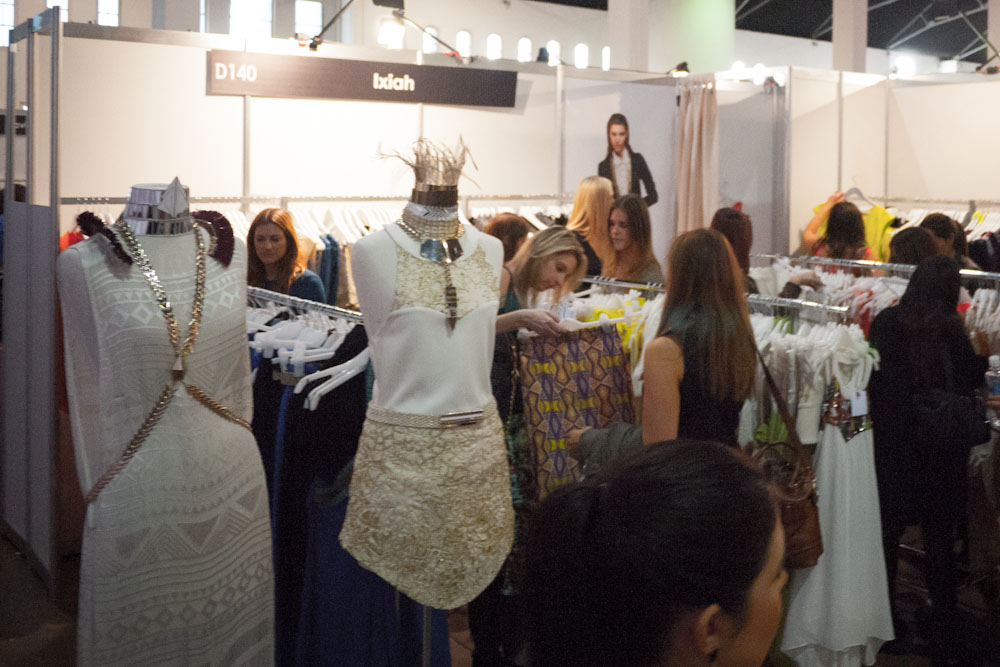 Ixiah's stand at Fashion Weekend