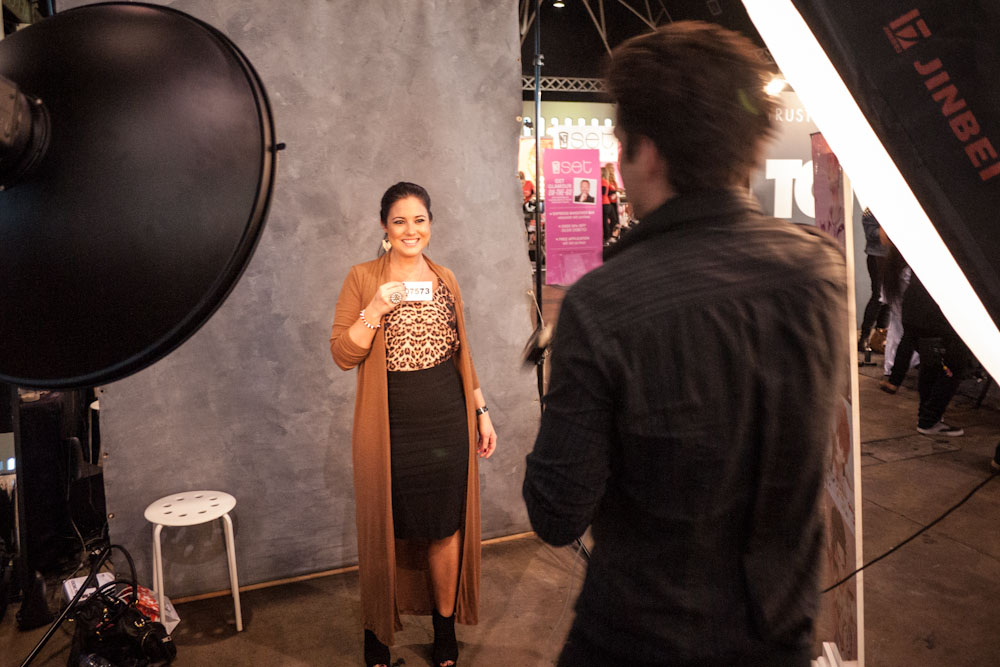 Photographic modelling at Fashion Weekend